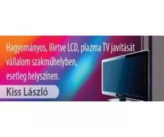 Képcsöves, LCD és PLAZMA TV-k javítása 06203412227