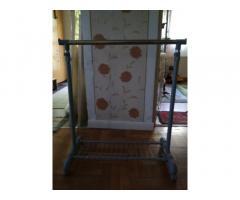 Szobainas, állítható ruhatartó állvány, fogas, tároló 70cm
