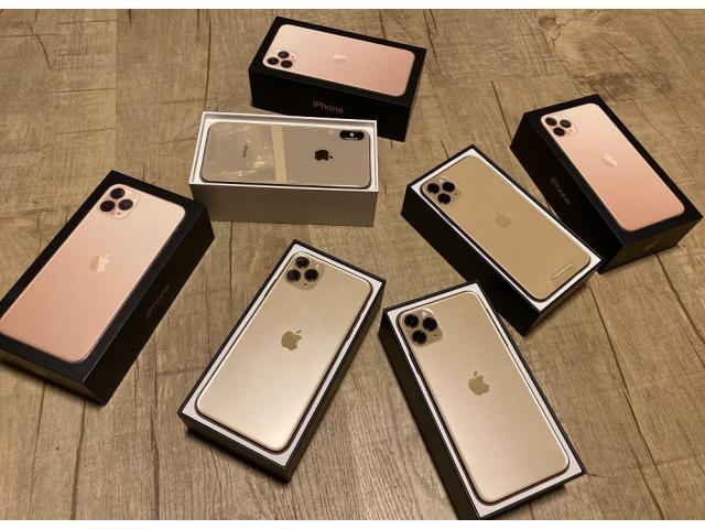 Apple iPhone 11 Pro 64GB €400,iPhone 11 Pro Max 64GB €430,iPhone 11 64GB €350, iPhone XS 64GB €300