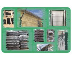 Vadkerítés szögesdrót kerítés építés táblás elem vadháló betonoszlop